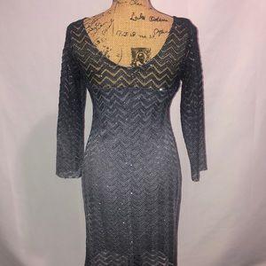 Morgan & Co. Dresses - Gray Sparkly Morgan & Co Dress 11/12